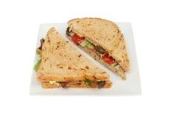 isolerad plattasmörgåswhite Royaltyfria Bilder