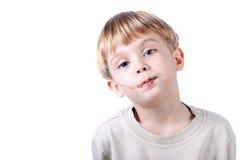 isolerad pojkechokladframsida Arkivfoton