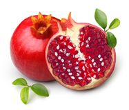 isolerad pomegranate Royaltyfri Bild