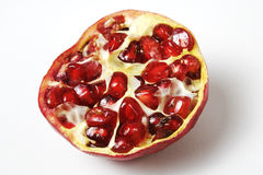 isolerad pomegranate Royaltyfri Foto