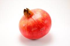isolerad pomegranatewhite Royaltyfri Foto
