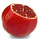 isolerad pomegranatewhite Fotografering för Bildbyråer
