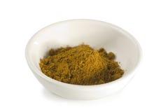 isolerad pulverwhite för bunke curry Arkivbilder