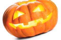 isolerad pumpawhite för bakgrund halloween Royaltyfri Foto