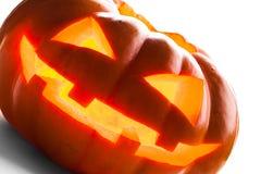 isolerad pumpawhite för bakgrund halloween Arkivbilder