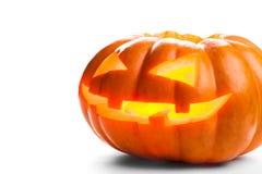 isolerad pumpawhite för bakgrund halloween Royaltyfri Bild