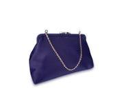 isolerad purpur handväska för damtoalett arkivbild