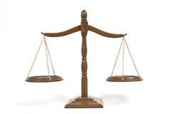 isolerad rättvisa över vita scales Royaltyfri Bild