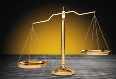isolerad rättvisa över vita scales Royaltyfri Foto