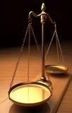 isolerad rättvisa över vita scales Arkivbild