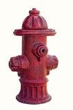 Isolerad röd brandpost Fotografering för Bildbyråer