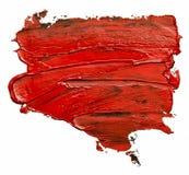 Isolerad röd fläck för oljamålarfärg royaltyfri illustrationer