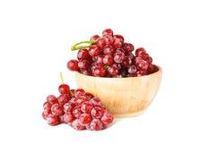 Isolerad röd frukt Arkivbilder
