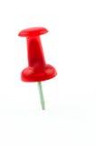 Isolerad röd häftstift Royaltyfri Foto