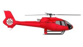 Isolerad röd helikopter stock illustrationer