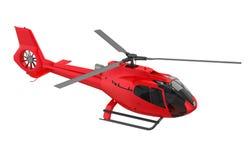 Isolerad röd helikopter vektor illustrationer