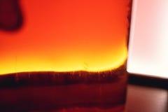 Isolerad röd lantlig flaska av sur likör Nationella drinkar Arkivbild
