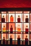 Isolerad röd lantlig flaska av sur likör Nationella drinkar Royaltyfri Fotografi