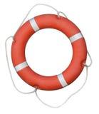 Isolerad röd livboj Fotografering för Bildbyråer