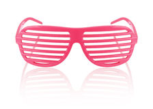 Isolerad röd randig solglasögon Royaltyfria Bilder