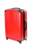 isolerad röd resväska Royaltyfri Bild