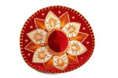 isolerad röd sombrero Royaltyfri Foto