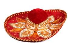 isolerad röd sombrero Arkivbild