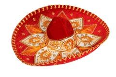 isolerad röd sombrero Royaltyfri Fotografi