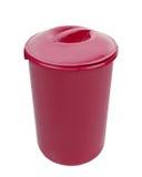 Isolerad röd soptunna Royaltyfri Bild