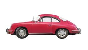 Isolerad röd sportbil för tappning Arkivbilder