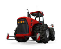 Isolerad röd traktor Royaltyfri Bild