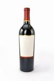 isolerad röd vit wine för bakgrund flaska Arkivfoto