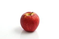 isolerad röd white för äpple bakgrund Arkivfoto