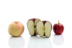 isolerad röd white för äpple bakgrund Royaltyfria Foton