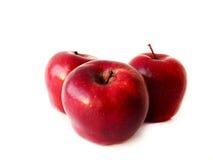 isolerad röd white för äpplen bakgrund Royaltyfri Fotografi