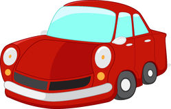 isolerad röd white för bil tecknad film vektor illustrationer
