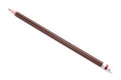 isolerad röd white för blyertspenna Fotografering för Bildbyråer