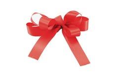 isolerad röd white för bow gåva Royaltyfria Foton