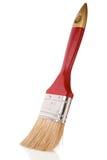 isolerad röd white för paintbrush Royaltyfri Foto