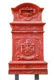 isolerad röd white för postbox Royaltyfri Bild