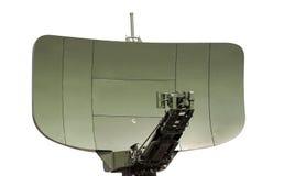 Isolerad radarantenn Arkivbild