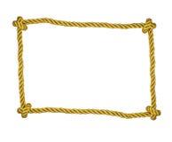 Isolerad ram av det guld- repet Arkivfoto