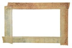 Isolerad ram för pappers- band, isolerad tappningphotoframe Fotografering för Bildbyråer
