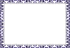 Isolerad rambakgrundsmall för certifikat Arkivbild