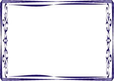 Isolerad rambakgrundsmall för certifikat Arkivfoton