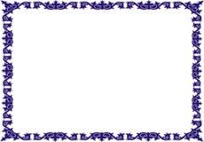 Isolerad rambakgrundsmall för certifikat Royaltyfri Foto
