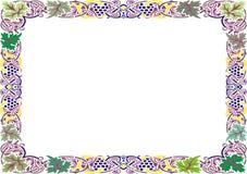Isolerad rambakgrundsmall för certifikat Royaltyfri Bild