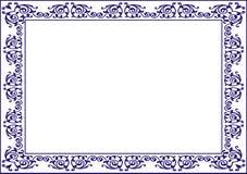 Isolerad rambakgrundsmall för certifikat Royaltyfria Foton