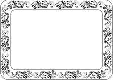 Isolerad rambakgrundsmall för certifikat Royaltyfri Fotografi