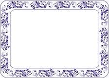 Isolerad rambakgrundsmall för certifikat Arkivbilder